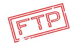 Ftp File Transfer Protocol rubber stamp. Grunge design with dust scratches. Effects can be easily removed for a clean, crisp look. Color is easily changed Royalty Free Stock Photo