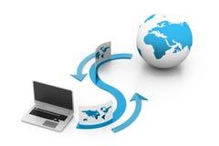 FTP-gegevens het delen concept Stock Fotografie