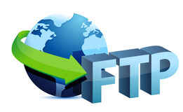 Ftp global concept. Illustration design over a white background Royalty Free Stock Image