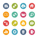 FTP and Hosting Icons -- Fresh Colors Series. Vector Icons and buttons in different layers, easy to change colors Royalty Free Stock Photography