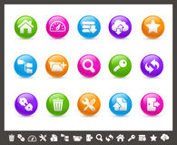 FTP & Hosting Icons // Rainbow Series. Vector icons for your web or printing projects Stock Images