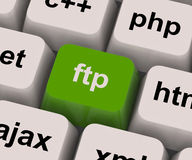 Ftp Key Shows File Transfer Protocol Royalty Free Stock Images