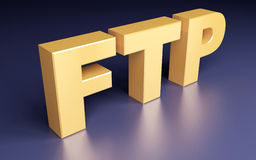 FTP sign. File Transfer Protocol. 3d concept Royalty Free Stock Photo