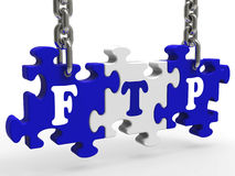 Ftp Sign Means File Transfer Protocol Stock Photography