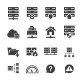 Ftp- u. Hosting-Ikonen Lizenzfreie Stockbilder
