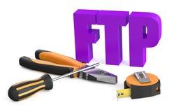 FTP usługa pojęcie ilustracja wektor