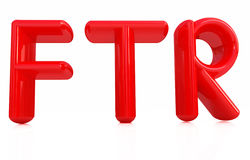 FTR 3d red text Royalty Free Stock Photography