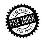 FTSE Index rubber stamp. Grunge design with dust scratches. Effects can be easily removed for a clean, crisp look. Color is easily changed Royalty Free Stock Images