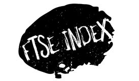 FTSE Index rubber stamp. Grunge design with dust scratches. Effects can be easily removed for a clean, crisp look. Color is easily changed Royalty Free Stock Photography