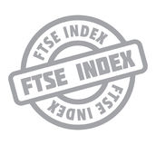 Ftse Index rubber stamp Royalty Free Stock Photos
