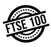 FTSE 100 rubber stamp Royalty Free Stock Photos