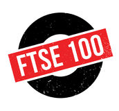 FTSE 100 rubber stamp Stock Photography