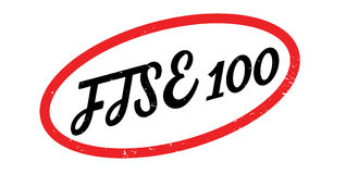 FTSE 100 rubber stamp Stock Image