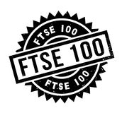 FTSE 100 rubber stamp Royalty Free Stock Images
