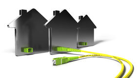 FTTH, Fiber To The Home 3D Illustration Royalty Free Stock Image