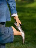 Fuß der Frau lizenzfreie stockbilder