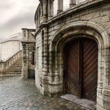 Fuß der Str. Michael und der Gudula Kathedrale stockfotos