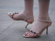 Fuß des Mädchens Stockbild