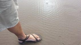 Fuß im Sand Stockfotografie