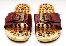 Fuß reflexology Schuhe stockfotos