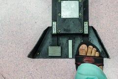 Fuß-Schalter stockfoto