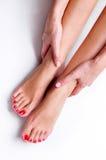 Fuß und Hand Stockbilder