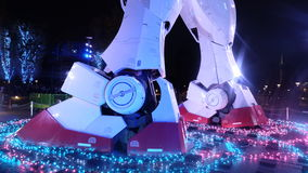 Fußansicht, Gundam, Ueno, Osaka, Feiertag, Markstein, Reise, Japan Lizenzfreie Stockfotos