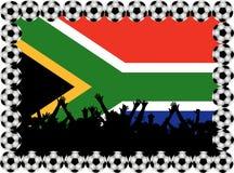 Fußbalgebläse Südafrika stock abbildung