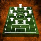 Fußball 3d oder Fußballplatz Stockfoto