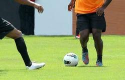Fußball Acton Stockfotografie