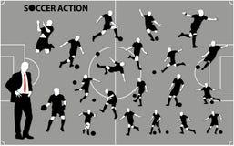 Fußball Acton Lizenzfreie Stockfotografie