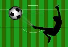 Fußball athletisch Lizenzfreie Stockfotos