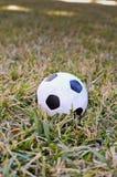 Fußball auf dem Gras Stockfotos