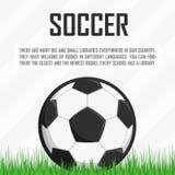 Fußball auf dem Gras Stockfotografie