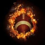 Fußball auf Feuer Stockfotos