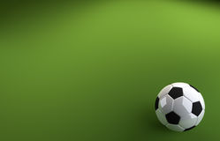 Fußball auf grünem Hintergrund Stockbilder