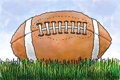 Fußball auf Gras Lizenzfreie Stockfotos