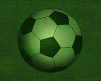 Fußball auf Grasfeld Lizenzfreies Stockbild