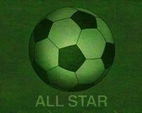 Fußball auf Grasfeld Stockfoto