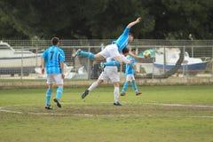 Fußball auf Kroatisch Trogir lizenzfreie stockbilder