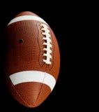 Fußball auf Schwarzem Lizenzfreie Stockfotos