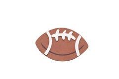 Fußball auf Weiß Lizenzfreie Stockfotos