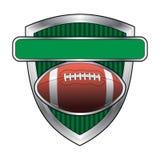 Fußball-Auslegung-Schild lizenzfreie abbildung