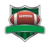 Fußball-Auslegung-Schild-Emblem stock abbildung