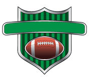 Fußball-Auslegung-Schild-Fahne stock abbildung