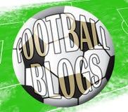 Fußball-Blogs zeigt Illustration des Fußball-Blog-3d vektor abbildung