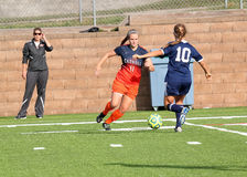 Fußball College NCAA Div. III Women's Stockfotos