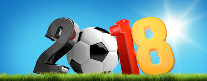 Fußball 2018 3D übertragen Symbol Stockfotografie