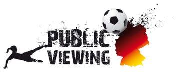 Fußball der Frauen, allgemeine Betrachtung vektor abbildung