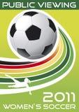 Fußball der Frauen, allgemeine Betrachtung, Plakat stock abbildung